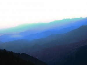 закат в Гималаях
